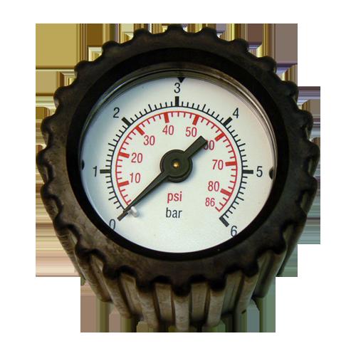 Manometer met aansluitingen