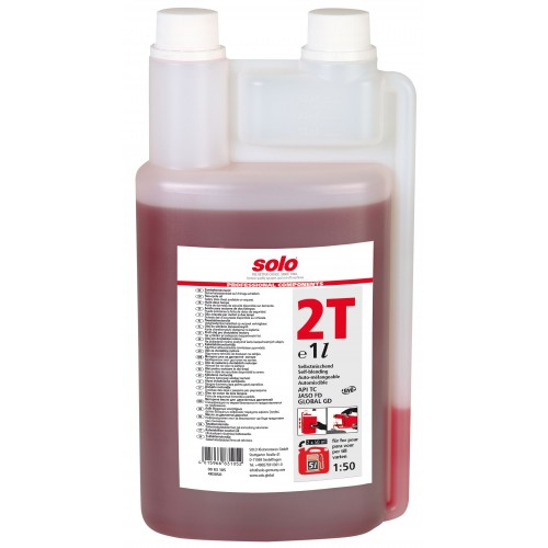 SOLO Profi 2T engine oil, metering bottle, 1 litre
