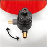 Compressed air connection valve